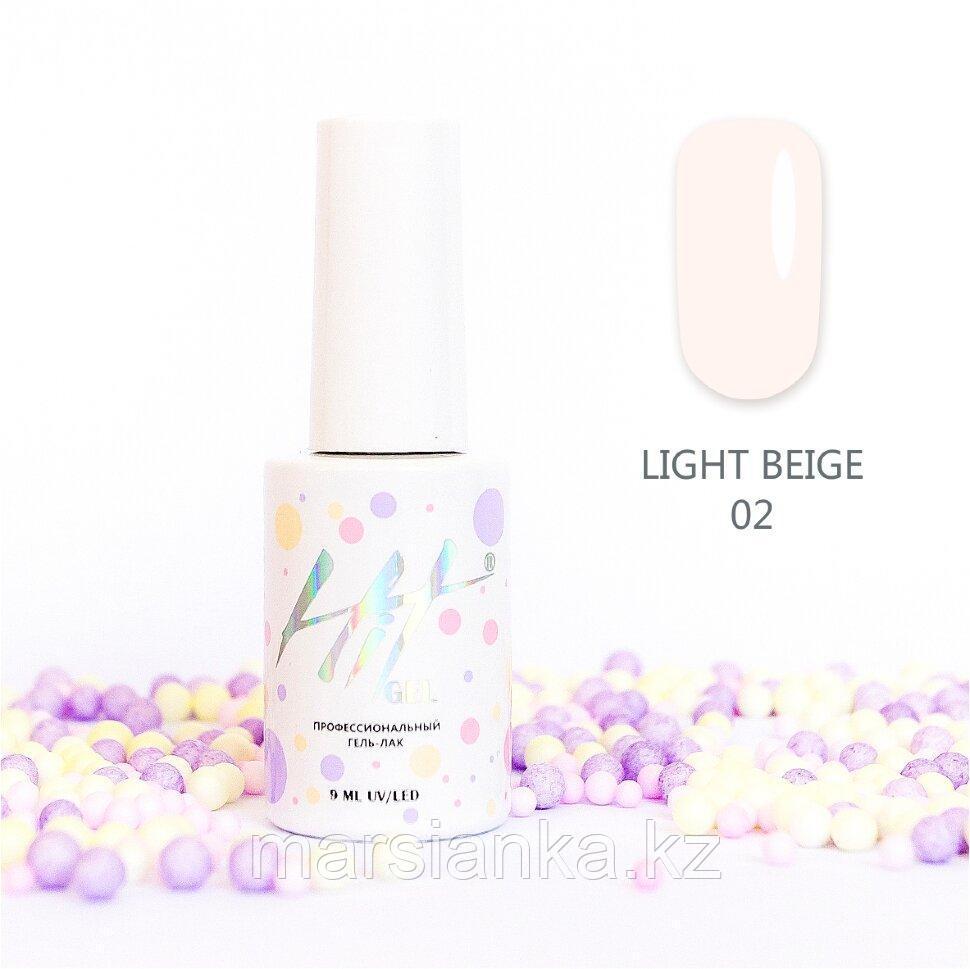 Гель-лак HIT gel Light Beige №02, 9мл