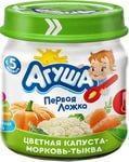 Пюре детское овощ АГУША цветная капуста-морковь-тыква 80 г
