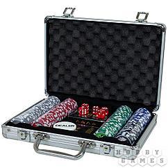 Набор из 200 фишек для покера с номиналом