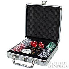 Набор из 100 фишек для покера с номиналом