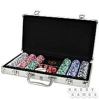 Набор из 300 премиальных фишек для покера с номиналом