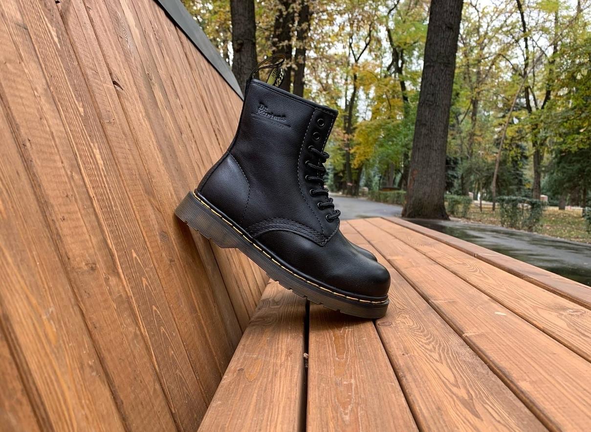 Ботинки зимние Dr. Martens 1460 (Натуральная кожа + Натуральный мех)