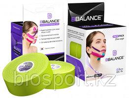 Кинезио тейп для лица, BBTape Face Pack, 2.5 см х 10 м Лайм