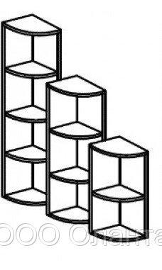 Стеллаж для игрушек и пособий угловой на 4 ячейки ЛЕСЕНКА (400х400х1444 мм) арт. СТЛУ1/2