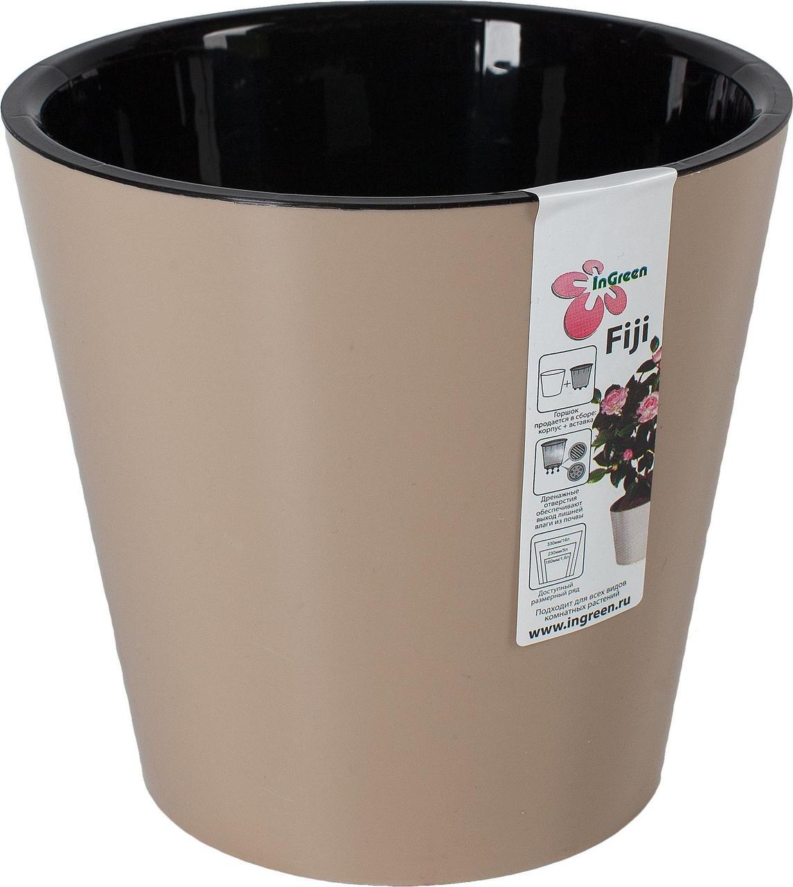 Горшок для цветов Фиджи D 200 мм/4л шоколадный