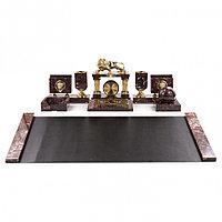 """Настольный набор на стол """"Руководитель"""" с бюваром бронза креноид"""