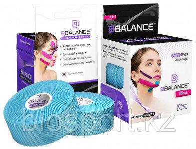 Кинезио тейп для лица BB Tape 2,5 см × 10 м Шелк Голубой