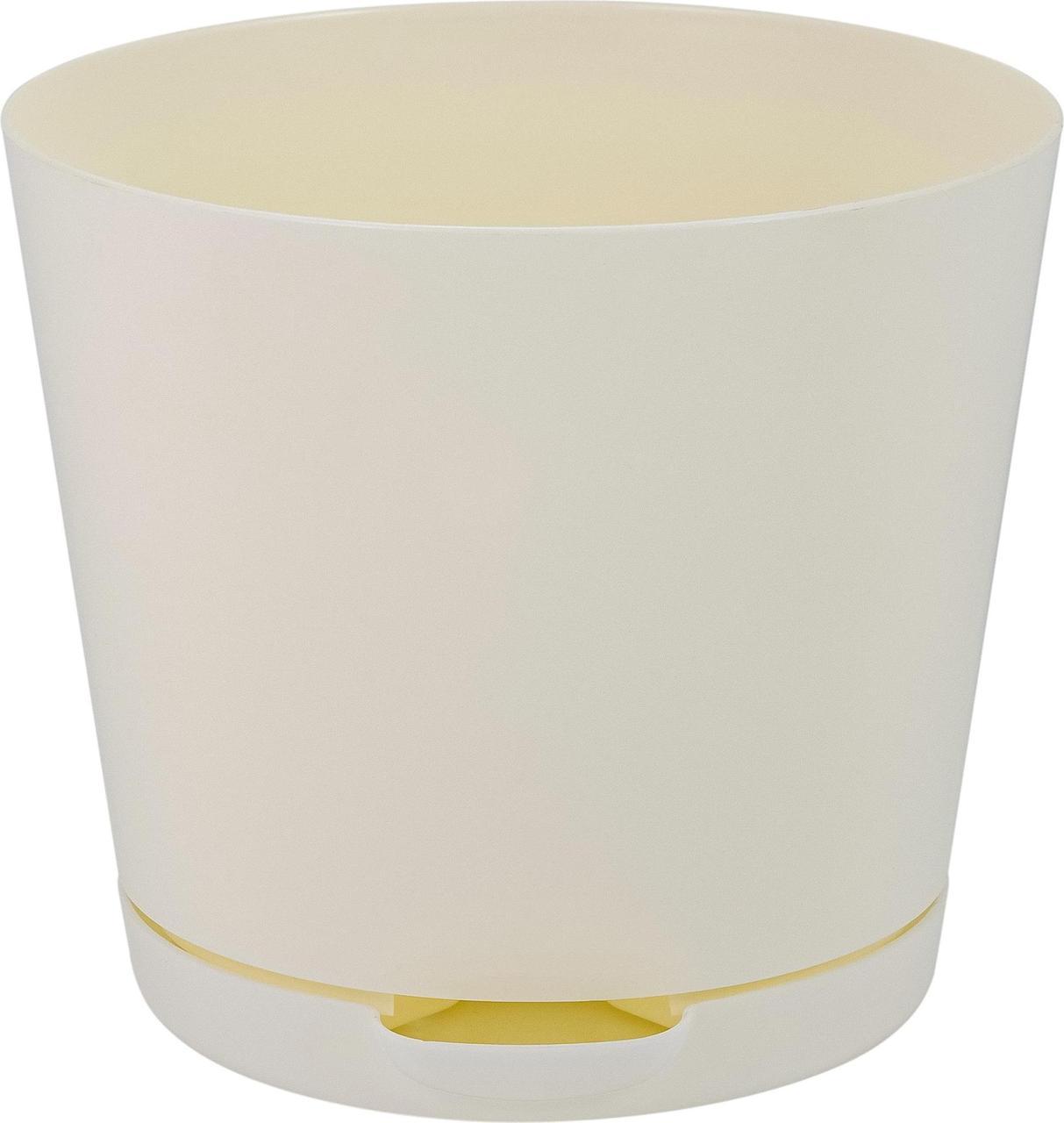 Горшок   для цветов Easy Grow D 120 с прикорневым поливом 0,75 л Сливочный
