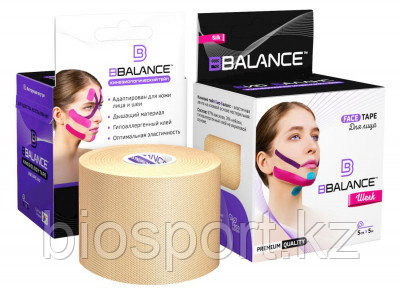Кинезио тейп для лица BBTape Face tape 5 см × 5 м Шелк