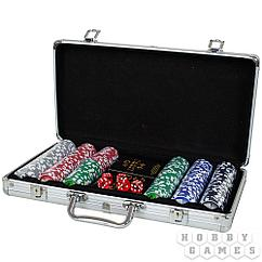 Набор из 300 фишек для покера с номиналом