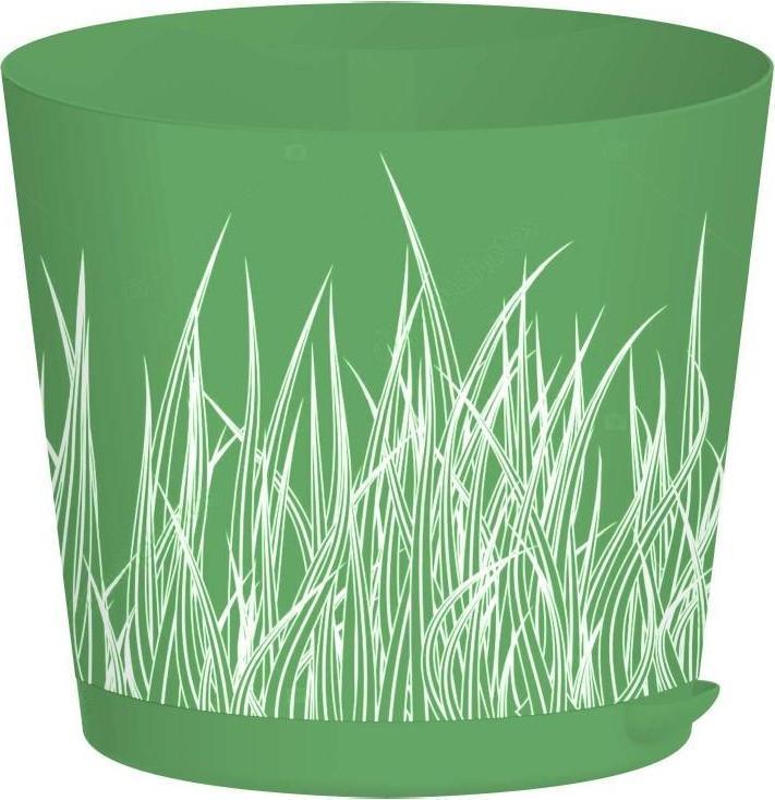Горшок для цветов Easy Grow D 200 с прикорневым поливом 4 л Зелёная трава