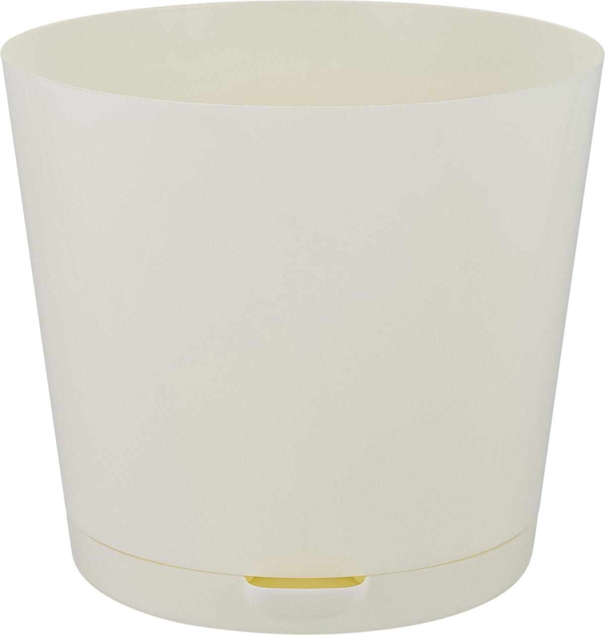 Горшок для цветов Easy Grow D 200 с прикорневым поливом 4 л Сливочный