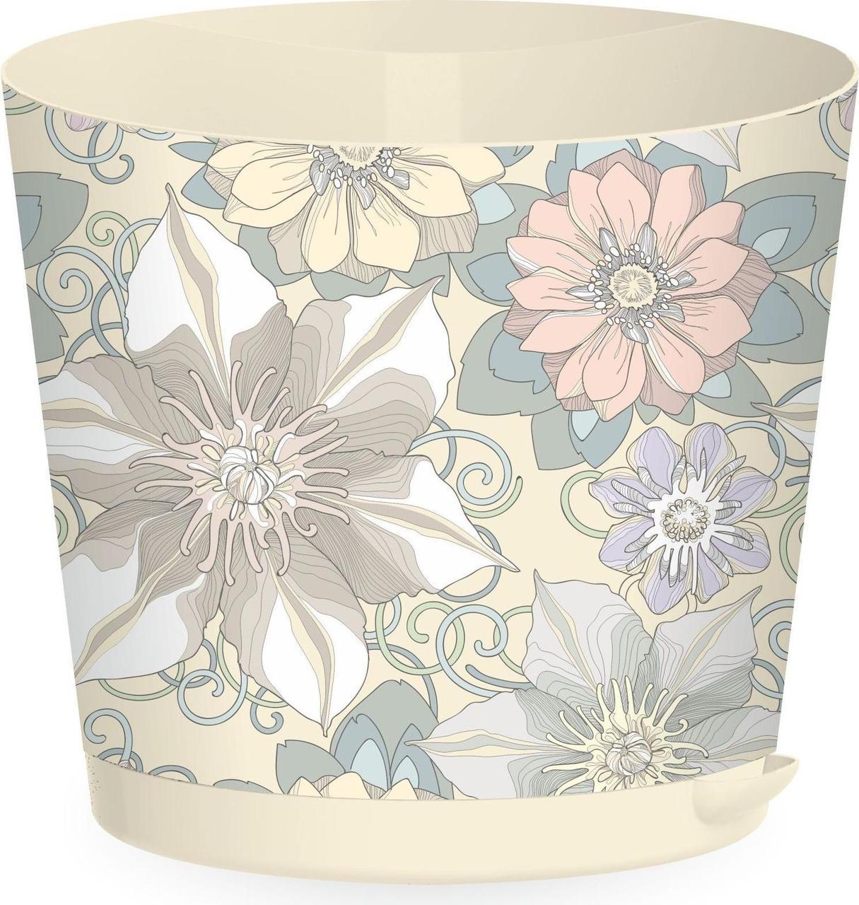 Горшок для цветов Easy Grow D 200 с прикорневым поливом 4 л Цветочный дом