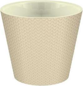Горшок для цветов Ajur D330мм/16л молочный шоколад