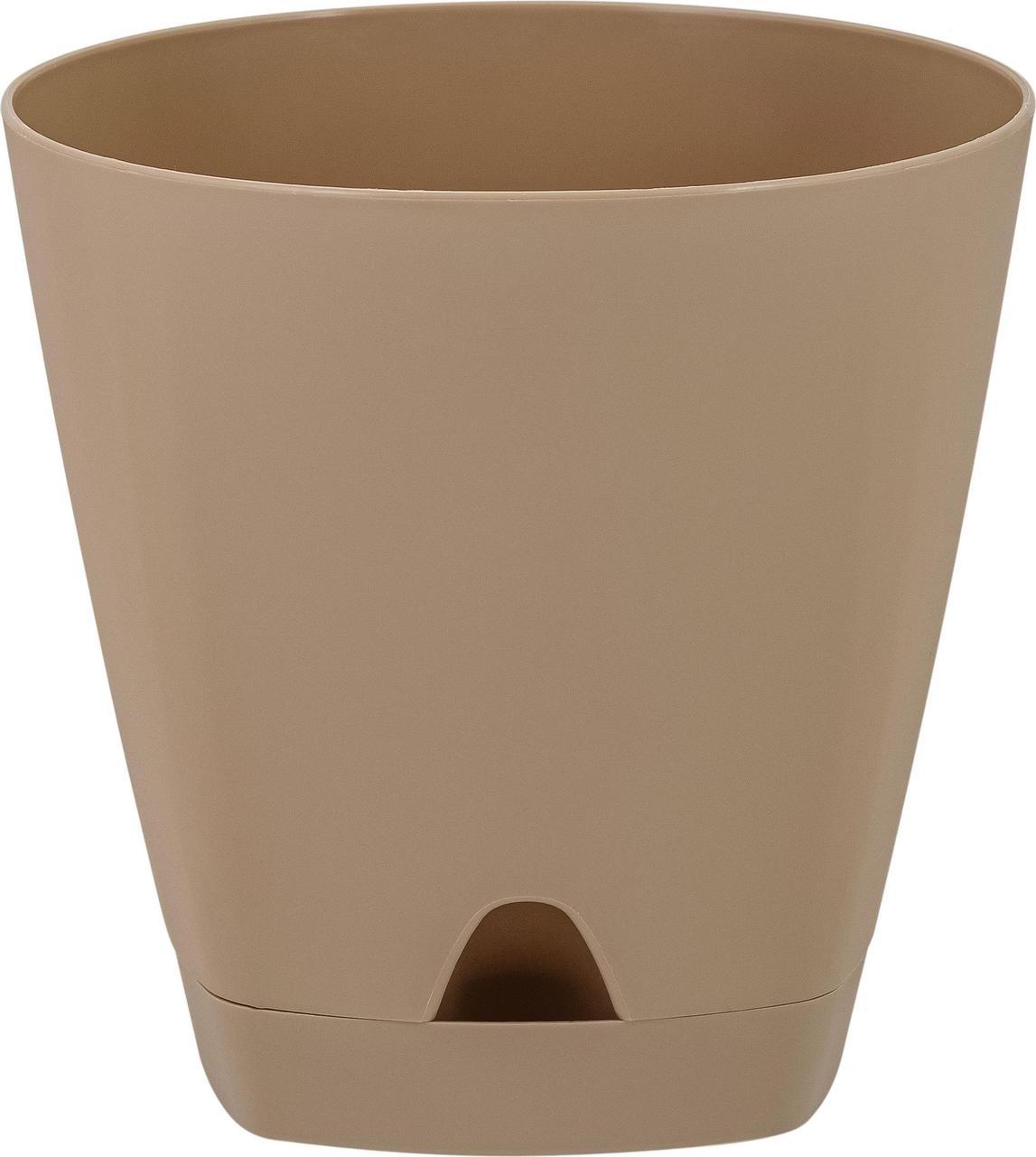 Горшок для цветов AMSTERDAM D 110 с прикорневым поливом 0,65 л Молочный Шоколад