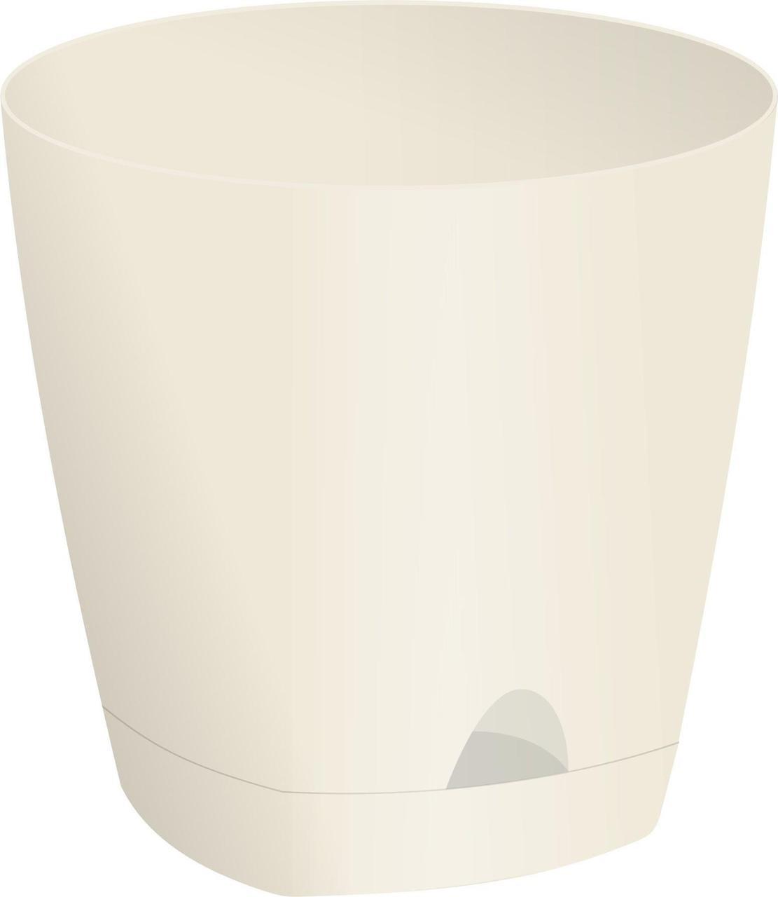 Горшок для цветов AMSTERDAM D 110 с прикорневым поливом 0,65 л Сливочный