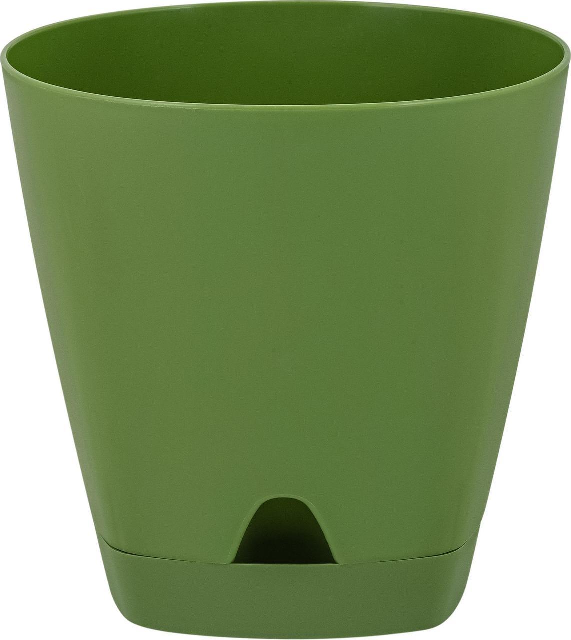 Горшок для цветов  AMSTERDAM D 140 mm/1,35l с прикорневым поливом оливковый