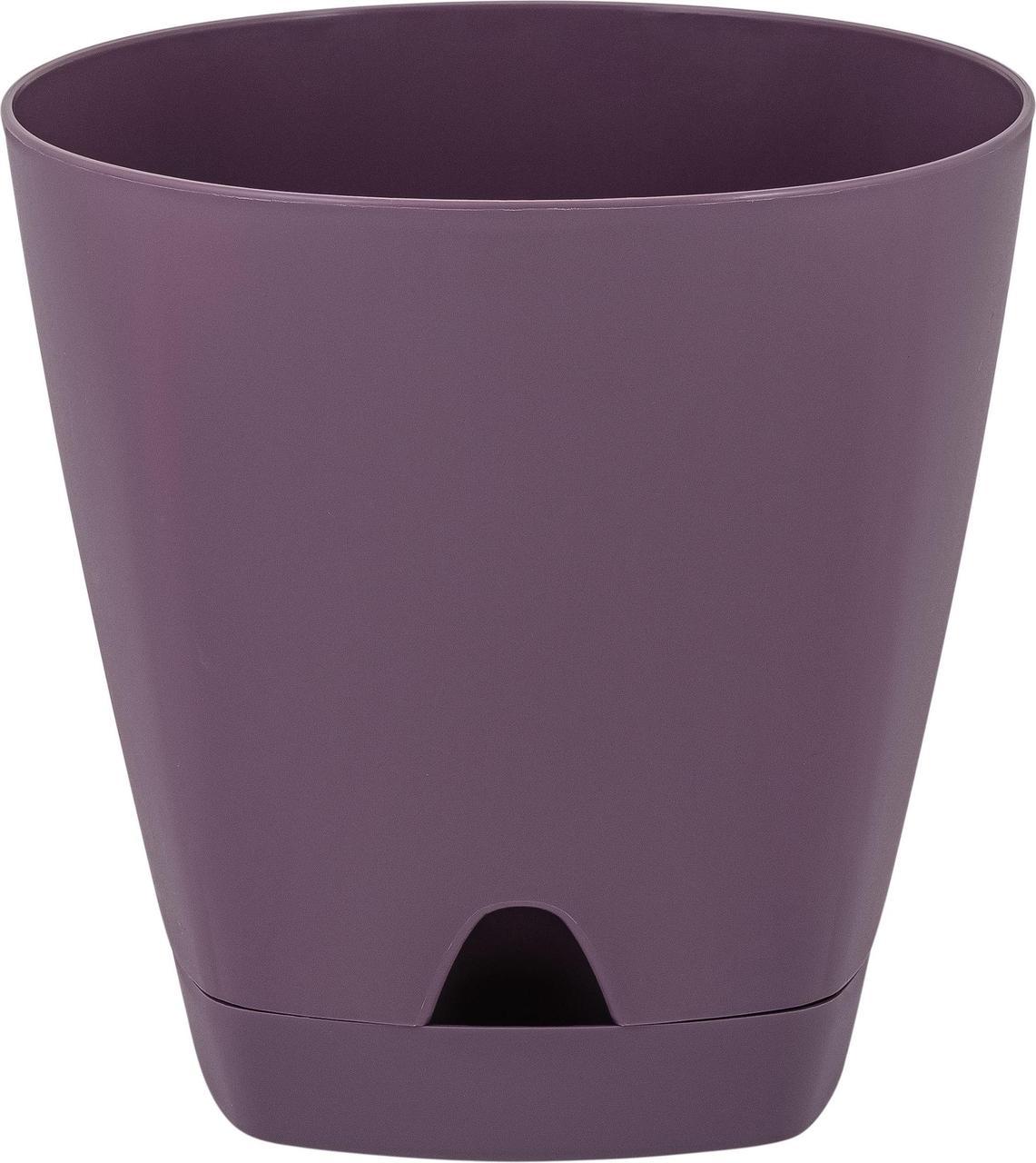 Горшок для цветов AMSTERDAM D 200 mm/4l с прикорневым поливом Морозная слива