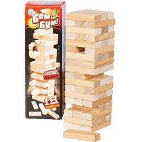 Игра настольная для взрослых и детей БАМ-БУМ. Падающая башня с фантами