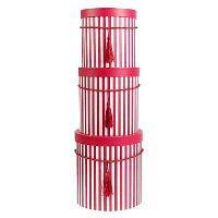 """Набор коробок 3 в 1 """"Полоски"""", цвет красный"""