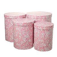 Н-р коробок круглых 4в1 Розовый вьюнок