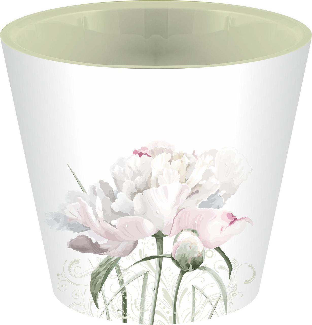 Горшок для цветов London Deco D 200 мм, 4л Садовый пион