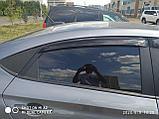 Ветровики дверей (дефлекторы окон) Hyundai Solaris/Accent седан (2017-), фото 2