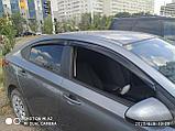 Ветровики дверей (дефлекторы окон) Hyundai Solaris/Accent седан (2017-), фото 3
