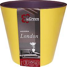 Горшок для цветов London 330 мм, 16л на колесиках Спелая груша и морозная слива