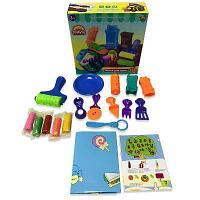 Набор Масса для лепки. 5 разноцветных баночек с тематическими аксессуарами, 18 п