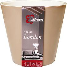 Горшок для цветов London 230 мм, 5л молочный шоколад