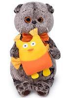 Кот Басик с совой 19 см мягкая игрушка