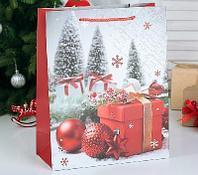 """Пакет ламинированный """"Новогодние подарки"""", люкс, 31 х 12 х 44 см"""
