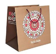 Пакет подарочный бумажный Буди Баса коричневый