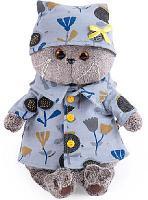 Кот Басик в голубой пижаме в цветочек 22 см