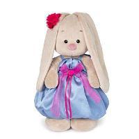 Зайка Ми в синем платье с розовым бантиком (большая)