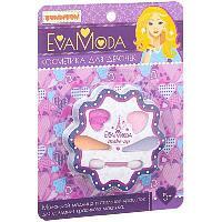 Набор детской декорат. косметики Bondibon Eva Moda, CRD 12,6х17,2 см, цветок с тенями для век (4 отт