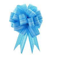 Бант-шар №3 тонкие полосы, голубой 893036