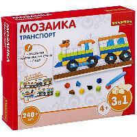 Логические, развивающие игры и игрушки Bondibon Мозаика «ТРАНСПОРТ», 248 дет., BOX 22x4.5x19 см