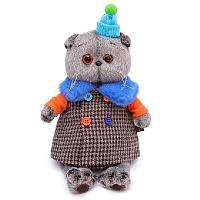 Кот Басик в комбинированном пальто 19 см мягкая игрушка