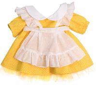 Игрушка Платье желтое с передником одежда для кошки Ли-Ли 27 см