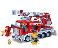 """Конструктор """"Пожарная машина"""" 290 деталей Banbao (Банбао)"""
