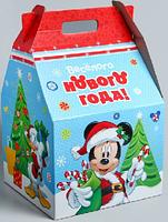 """Коробка подарочная складная гигант """"С Новым Годом"""", Микки Маус 4503959"""