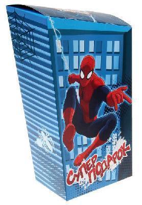 "Коробка подарочная складная ""Супер подарок"": Человек- Паук, 20 х 9 х 32 см 1145021"