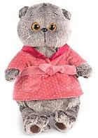 Мягкая игрушка кот Басик в халате 25 см