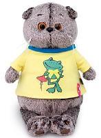 Кот Басик в футболке с принтом Лягушонок 19 см мягкая игрушка