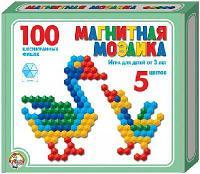 Мозаика магнитная шестигранная 100 фишек/ 5 цветов (Россия)