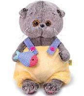 Кот Басик BABY в меховом комбинезоне мягкая игрушка