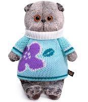 Кот Басик в весеннем свитере 19 см мягкая игрушка