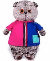 Кот Басик в двухцветной футболке 22 см мягкая игрушка
